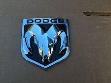 NEW DODGE BLACK & CHROME 3M EMBLEM HOOD OR TRUNK TAILGATE LOGO FENDERS BADGE