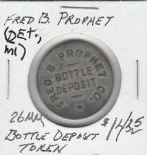 (H) Token - Detroit, Mi - Fred B. Prophet - Bottle Deposit - 26 Mm