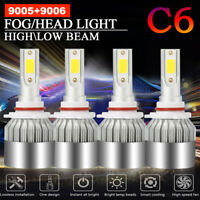 Combo 9005+9006 Total 3000W 450000LM CREE LED Headlight Hi-Low Beam 6000K White