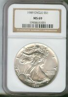 1989 Silver American Eagle (NGC MS-69)  1793816-031