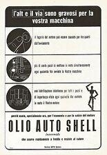 W9250 Olio auto SHELL invernale - Pubblicità del 1940 - Vintage advertising