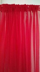 "Wedding Drape 9'x114"" White, ivory, black, fuchsia , Gold, Pink, for  backdrops."