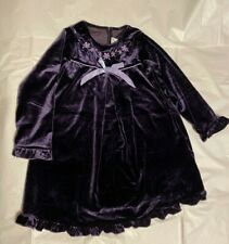Goodlad of Philadelphia Girl's Purple Velvet Long Sleeve Dress Size 5 Euc