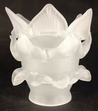 """2 1/4"""" fitter Satin Etched Rose Petal Glass Lamp Fixture Chandelier Shade #FS547"""