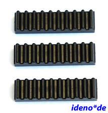 Lego Technik Technic 3 Stk. Zahnstange Schiene 10 Zähne 3743 schwarz 4211450 Neu