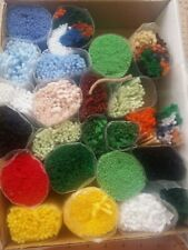 Lot of 22 Precut Latch Hook Yarn Various Colors From Caron Sports Kit -Yarn Only