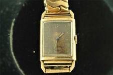 VINTAGE MENS BULOVA ROSE GOLD FILLED WRISTWATCH CALIBER 7AP RUNNING
