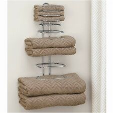 Wall Mount Home/Hotel Towel Rack Fully Assembled Stainless Steel Holder NEW