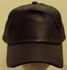 5-PANEL GENUINE REAL 100% LEATHER SOLID PLAIN BLANK BROWN WATERPROOF CAP HAT OS