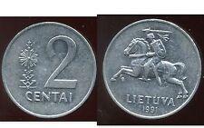 LITUANIE 2 centai  1991