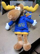"""BULLWINKLE MOOSE plush doll w/ tags NEW Wossamotta 2001 Jay Ward 18"""" cartoon"""