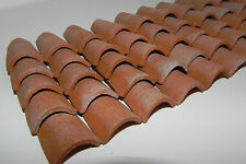 Dollhouse Miniature Roof Tiles Clay Material 50 Pieces Pellegrini Made in Italy