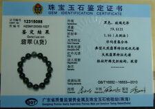 Black Jade Bangle Grade A Jadeite Bead Bracelet jewelry gem Stone B-162