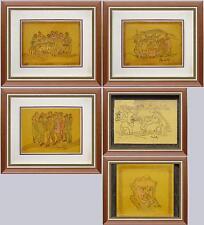 ARTE BRESCIANA: piccola collezione di 5 caricature di Angelo Muchetti in cornice