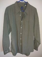 GAP men's long sleeve shirt size XL color green plaid.