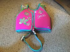 "Speedo Swimming Aid Vest. 4-6 years. 24"" Chest. 45 -60 Lbs. pink & turquois."