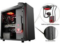 DEEPCOOL Gamer Storm BARONKASE LIQUID Black ATX Mid Tower with 120mm AIO Water C