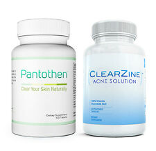 Pantothen Skin Clearing Vitamin Supplement +FREE Clearzine Acne Treatment Pills