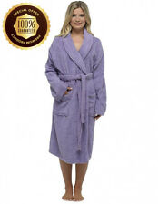 a5c610a496 Ladies Robe Luxury Terry Towelling Cotton Dressing Gown Bathrobe Highly.