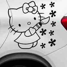 Hello Kitty Autoaufkleber Auto Tattoo ca.10x14 cm in Schwarz