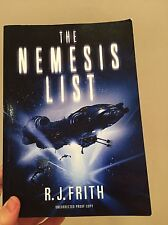 Book THE NEMESIS LIST -R.J. FRITH Science Fiction, Space, Stars, Planets, Galaxy