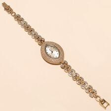 Natural Russian White Topaz Wrist Watch 925 Sterling Silver Twotone Fine jewelry
