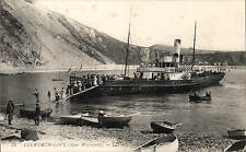 Lulworth Cove (Near Weymouth) # 32 by LL / Levy. Black & White. Paddle Steamer.