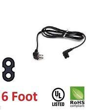 New TV AC Power Cord 2 Prong Flush Angled Samsung UN55FH6003F, UN55FH6200F