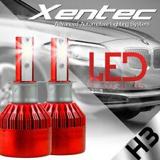 2x S2 H3 COB LED Headlight Kit 72W 16000LM Car Bulb Fog Light White 6500K Lamp