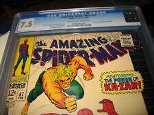 Lot of Amazing Spider-Man #57 CGC 7.5 ~ Marvel comics ~Kazar!!