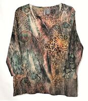 New Directions Weekend Womens Top XL V-Neck