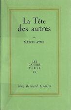 EO N° SUR HOLLANDE +  MARCEL AYME + J.D.MALCLÈS  LA TÊTE DES AUTRES  ( THÉÂTRE )