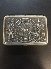 Vintage International Tailoring Match Safe Metal Pocket 1904 - Very Rare