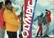 Publicité Advertising 107  1983  Olympic (2) vetements de ski anorak Nilsic