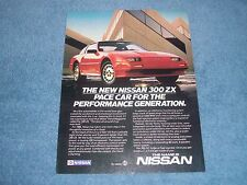 """1986 Nissan 300 ZX Vintage Ad """"Pace Car for the Performance Generation"""""""