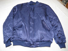 Kendall & Kylie Satin Bomber Jacket Womens Juniors S zip up quilted purple *^