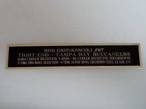 Rob Gronkowski Autograph Nameplate For A Buccaneers Football Helmet 1.5X8