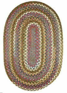 Country Jewel Textured Nylon Variegated Cottage Braided Area Rug Bronze CJ35