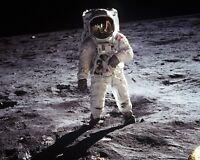 BUZZ ALDRIN APOLLO 11 ASTRONAUT ON THE MOON - 8X10 NASA PHOTO (EP-321)