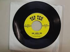 "OPPOSITE SIX: She Loves You-Dawn (Go Away)-U.S. 7"" 64 Top Ten Records TT 19642-1"