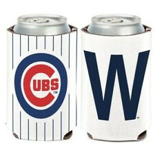 "Chicago Cubs ~ (1) Team Logo Win ""W"" Beer Can Coolie Holder Huggie ~ New!"