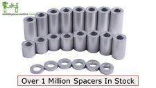 "New Aluminum Spacer Bushing 3/4"" OD x 3/8"" ID--Fits M10 or 3/8"" Bolts"