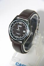 Casio Edifice Pre-Owned Used EF-121L-1A Watch Leather Band Analog Rare EF-121
