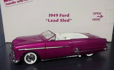 1949 FORD LEAD SLED CUSTOM LOWRIDER CHOPPED PURPLE DANBURY MINT DIECAST 1:24 MIB