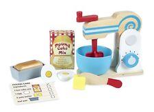 Melissa & Doug Wooden Make a Cake Mixer Set - Play Food and Kitchen 19840
