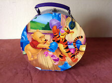 Disney Winnie the Pooh, Tigger, and Piglet Round Carrying Case with Handle