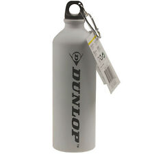 Dunlop 750ml Blanco Ciclismo Bici Botella de agua potable Hidratación deportiva para Senderismo y NUEVO