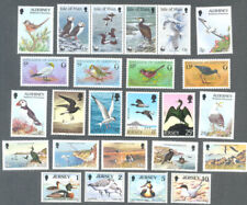 Birds of Channel Islands & Isle of Man 25 different collection-mnh(inc. 3 sets)