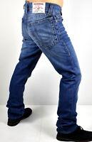 True Religion $229 Men's Hand Picked Relaxed Straight Indigo Jeans - 101250