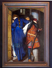 Frederick W. Burton Meeting on the Turret Stairs Handmade Oil Painting repro